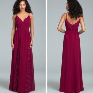 Hayley Paige Occasions 5813 Burgundy Gown